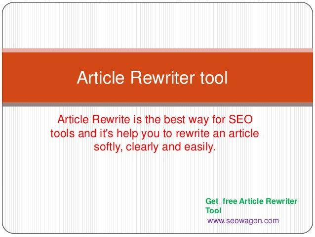 Thesis Rewriter - Free Article Spinner  Paraphrasing Tool