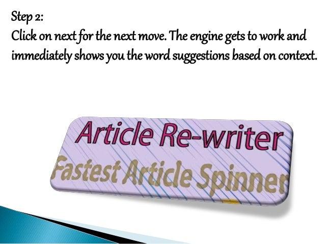 Article rewriter website