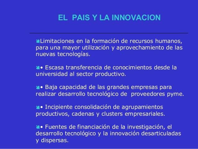 .  Permanencia dentro del mismo patrón de especialización, sin incorporar nuevas tecnologías.  Desarrollo acelerado de o...