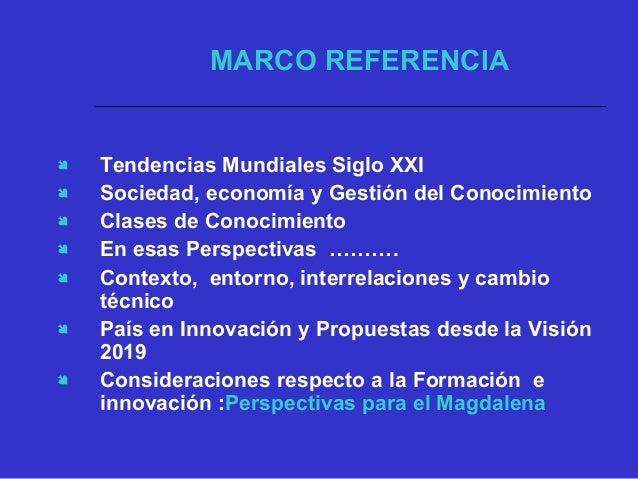  Tendencias Mundiales Siglo XXI  Sociedad, economía y Gestión del Conocimiento  Clases de Conocimiento  En esas Perspe...