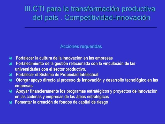 IV. CTI para la transformación social delIV. CTI para la transformación social del país. Apoyo Ciencias Socialespaís. Apoy...