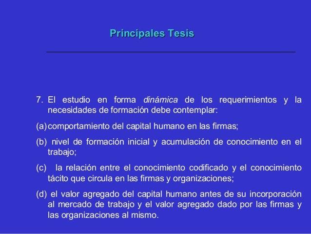 Principales TesisPrincipales Tesis 8. La segmentación de las firmas según su grado de innovación es determinante para cont...