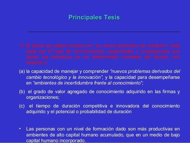 Síntesis de las Tesis ExpuestasSíntesis de las Tesis Expuestas La innovación y el cambio tecnológico para la internacional...