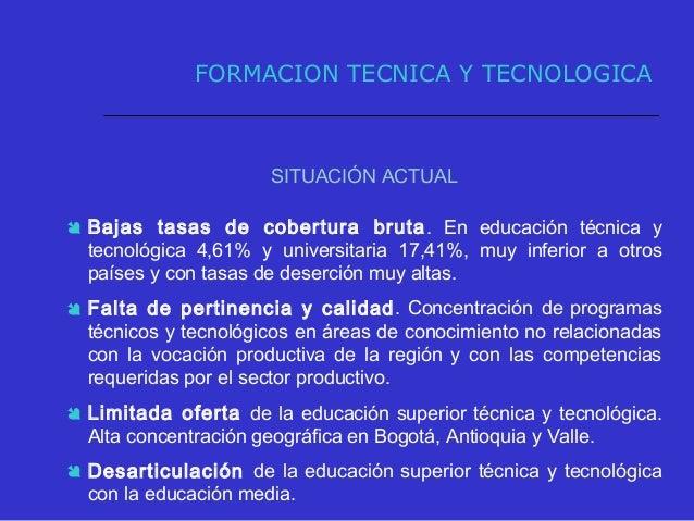 NIVEL DE FORMACIÓN 2002 2003 2004 2005 % Part. TECNICA PROF. y TECNOLÓGICA 183.319 180.421 223.453 294.659 24,3% UNIVERSIT...