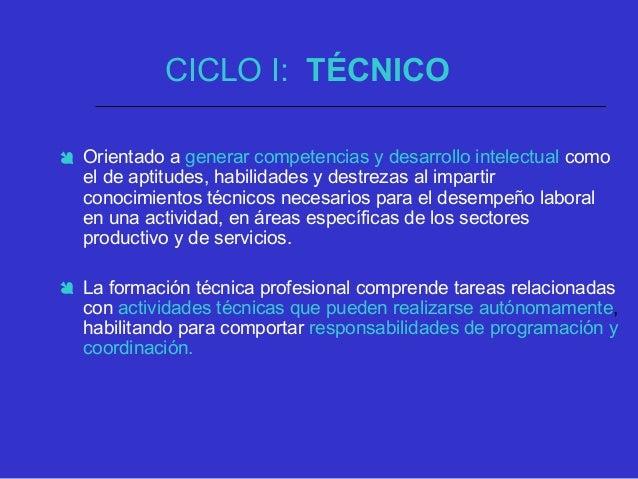 CICLO II: TECNOLÓGICO  Ofrecerá una formación básica común, que se fundamente y apropie de los conocimientos científicos ...