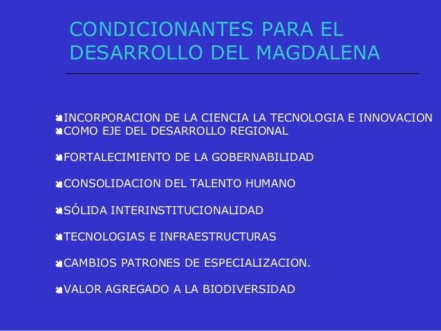DESDE LA PERSPECTIVA DE LA EDUCACION PARA EL DESARROLLO DEL MAGDALENA POSICIONAR A LAS INSTITUCIONES DE EDUCACION SUPERIO...