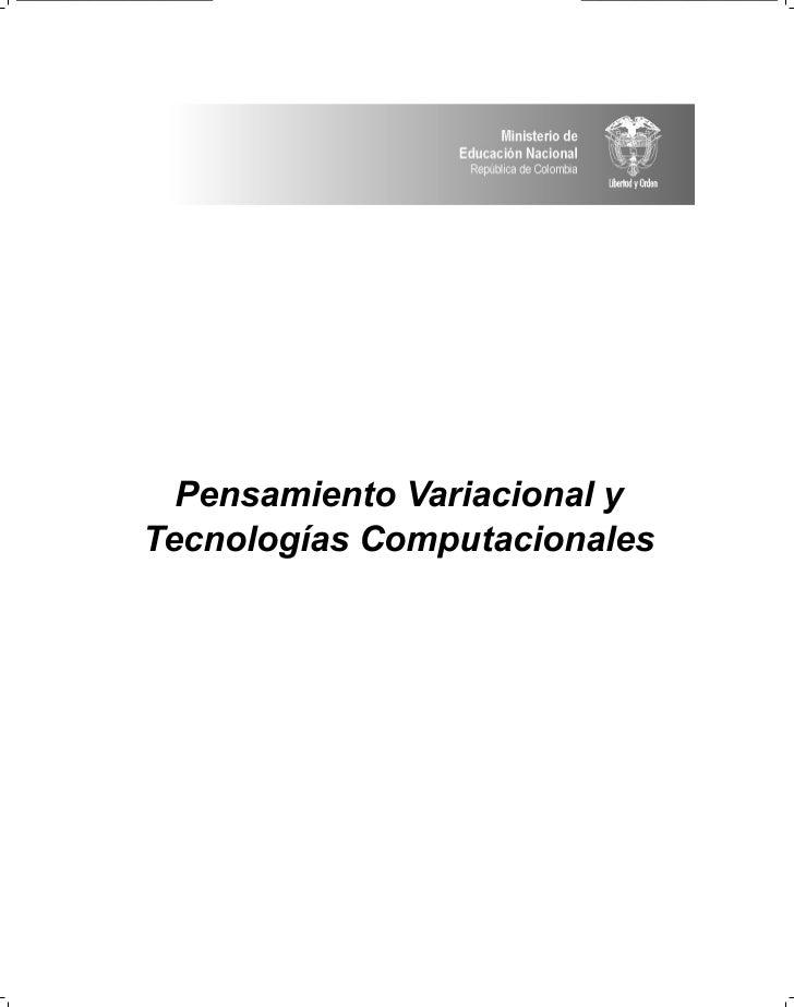 Pensamiento Variacional y Tecnologías Computacionales