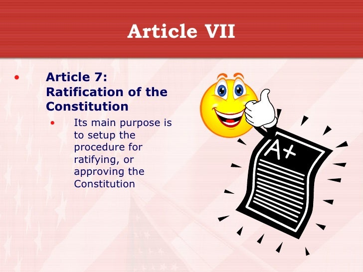 article vii regarding this u . s . constitution