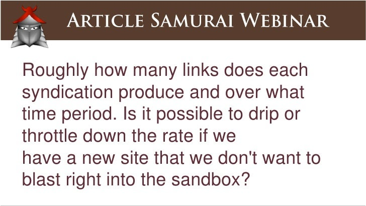 How often to submit articles for the same website/niche?<br />