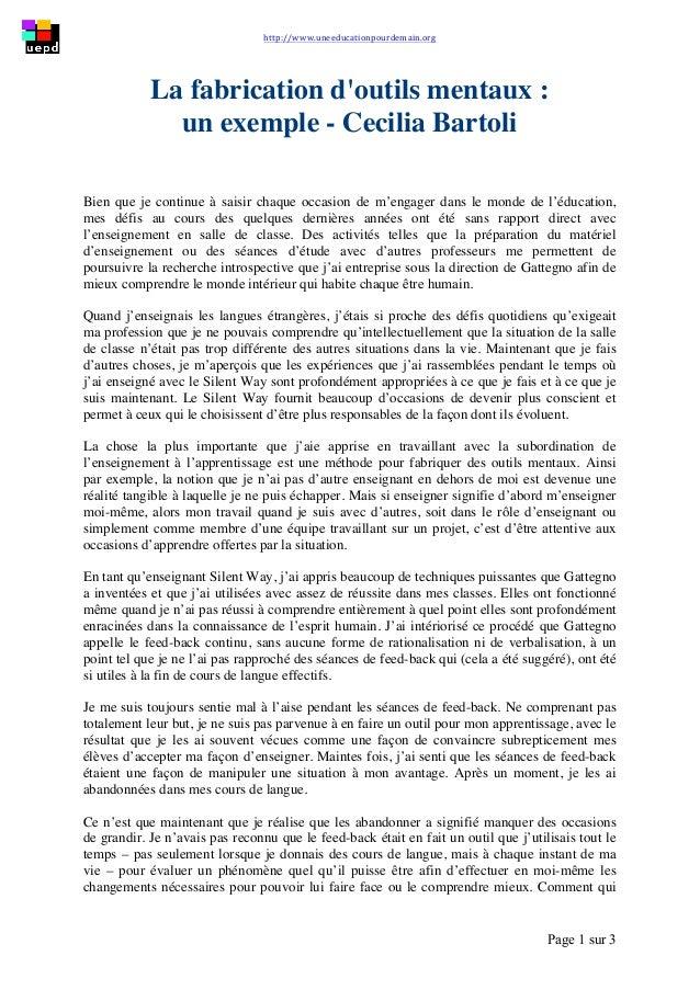 http://www.uneeducationpourdemain.org        Page 1 sur 3   La fabrication d'outils mentaux : un exemple - Cecilia...