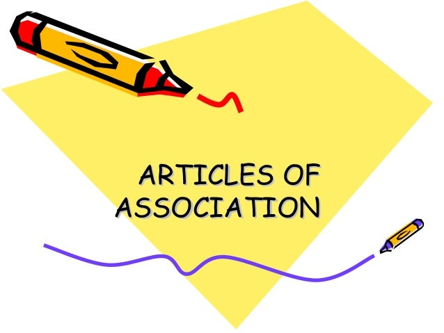 ARTICLES OFASSOCIATION