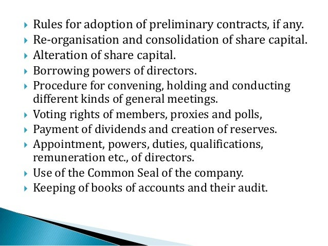 contents of articles of association pdf