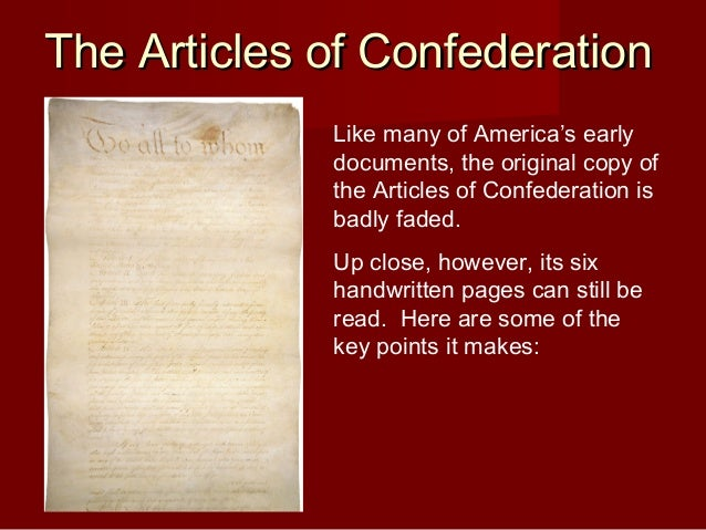 the shortcomings of the articles of confederation Benefits of articles of confederation april 13, 2011, harri daniel, 1 comment benefits of articles of confederation the articles of confederation was ratified in 1981 and specified exactly how the united states government was to carry out its mandate.