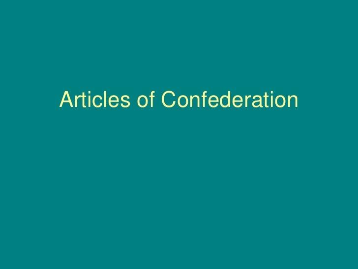 Articles of Confederation<br />