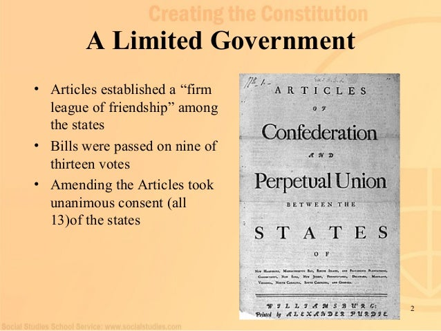 government under articles of confederation