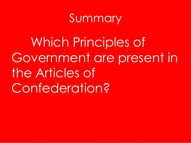 an overview of the articles of confederation in the us Tim: well, the articles defined america as a firm  retrieved from    follow us overview.