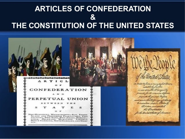 an introduction to the united states constitution and the articles of confederation To understand the united states of america, start with the constitution written over 200 years ago,  the 7 articles of the us constitution.
