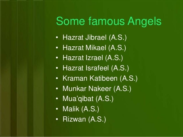 angles of islam In islam, angels are celestial beings, created from a luminious origin by god to  perform certain tasks he has given them the angels from the angelic realm are.