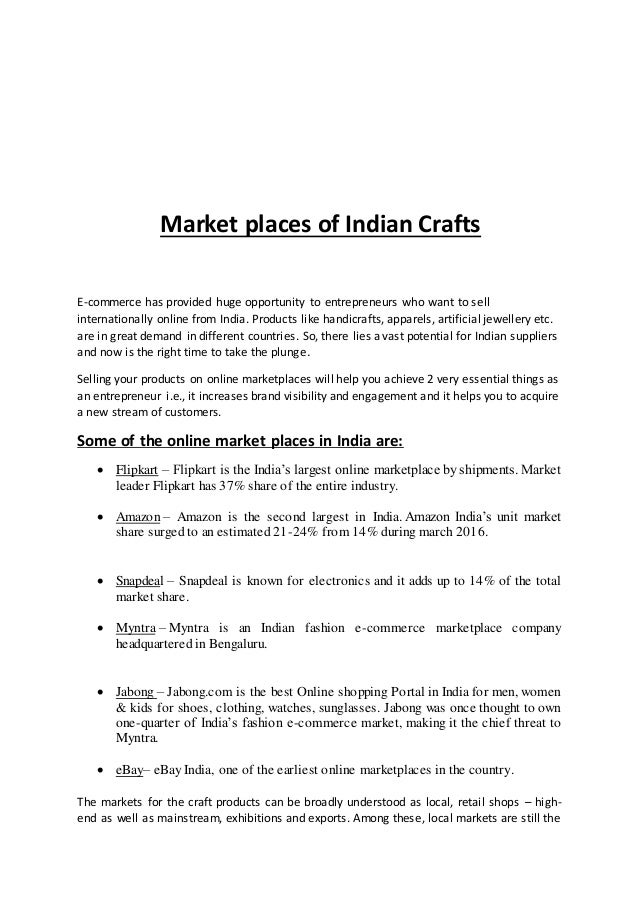 Articles on indian crafts