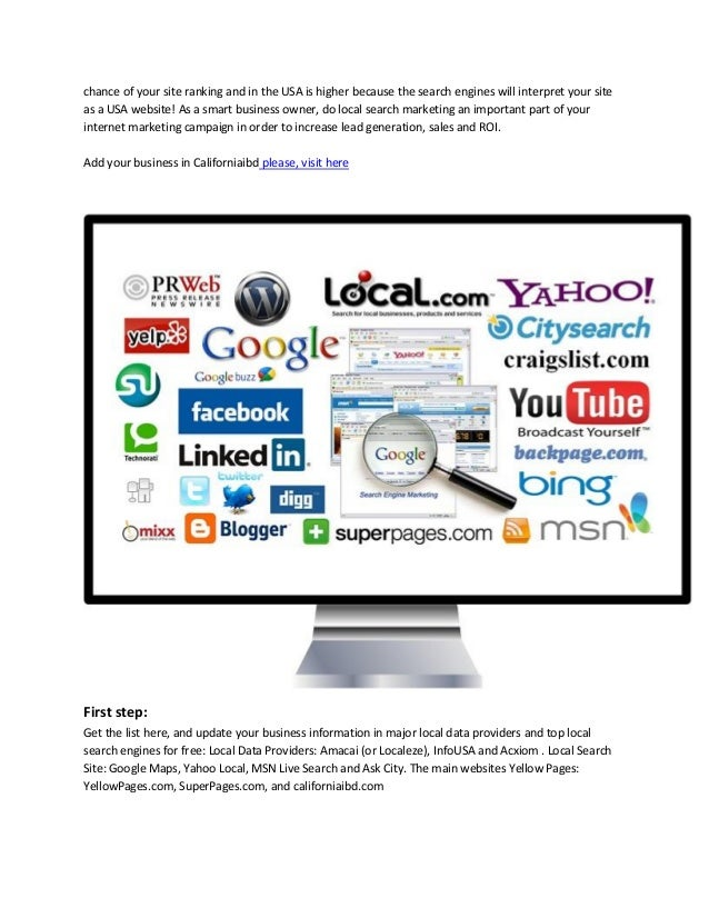Articles written about online search marketing, local