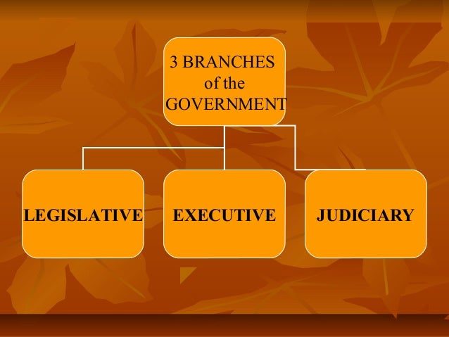 3 BRANCHES of the GOVERNMENT  LEGISLATIVE  EXECUTIVE  JUDICIARY