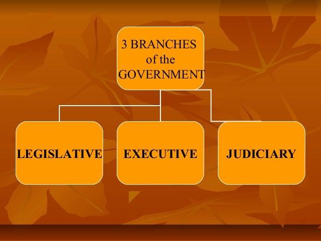 3 BRANCHES of the GOVERNMENT  LEGISLATIVE  EXECUTIVE  JUDICIARY