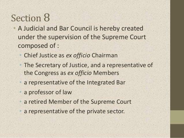 Article VIII: The Judiciary