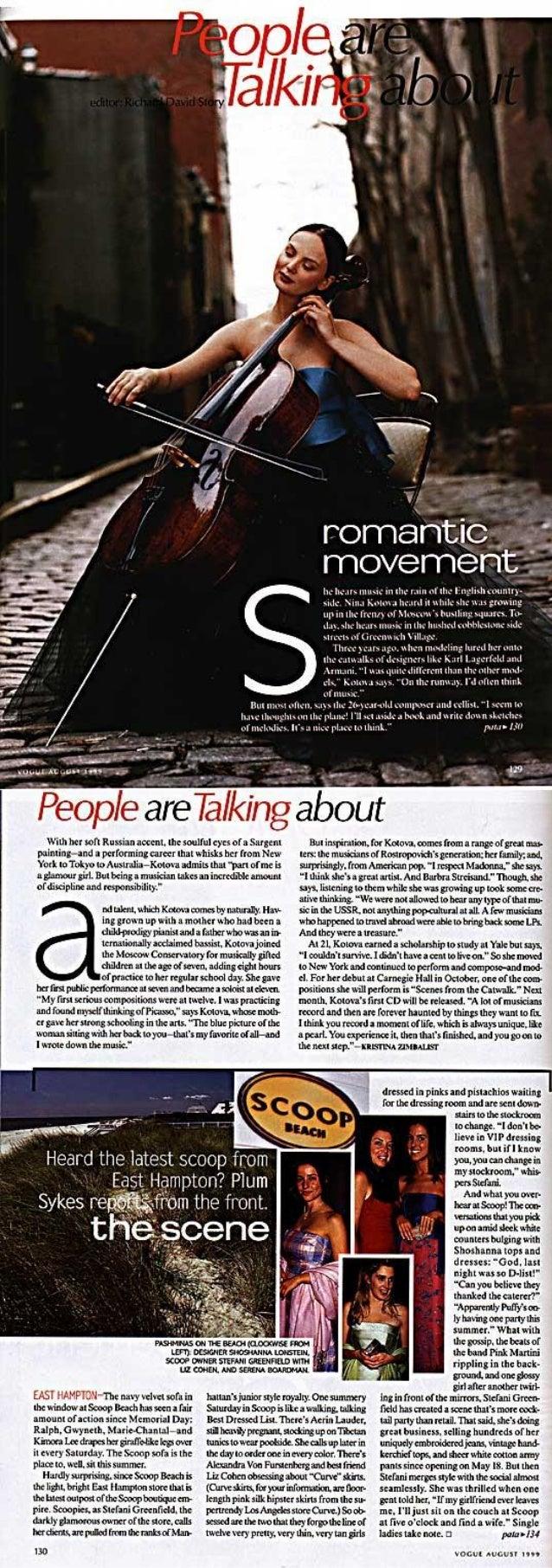 Nina Kotova: VOGUE. ROMANTIC MOVEMENT