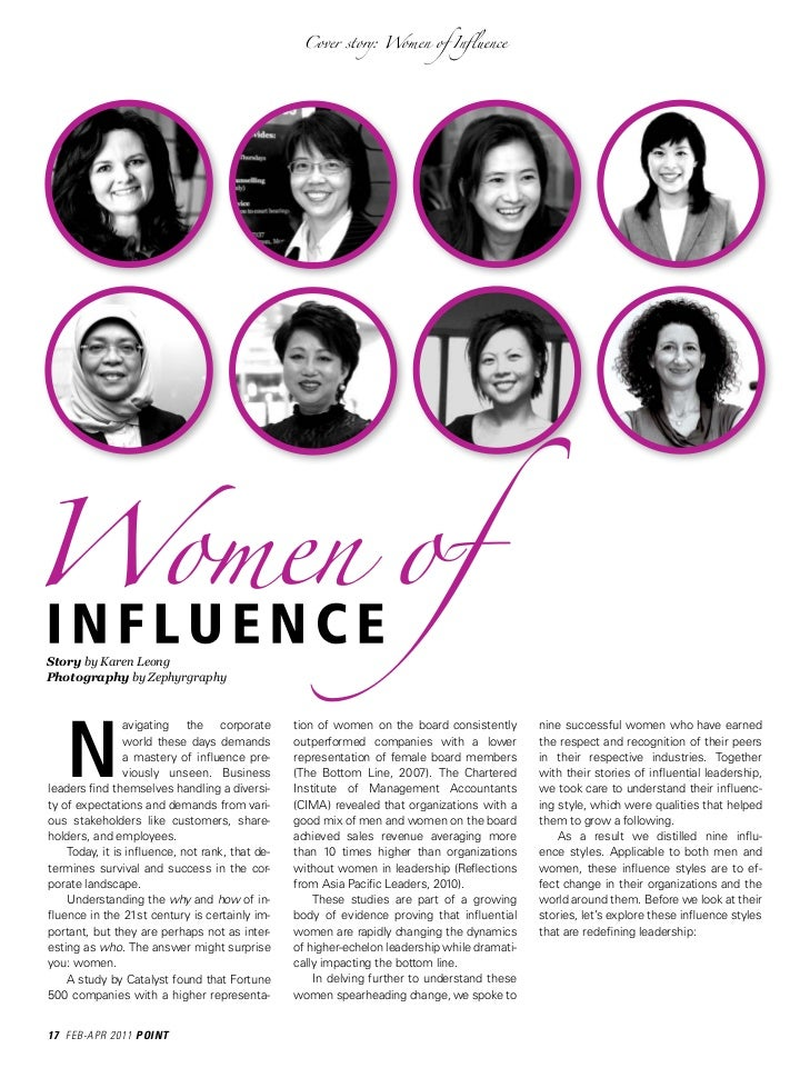 """influences magazines have on women The women of influence community enables women to make  current magazine  addressing the """"women can't have it all"""" reality of toronto's political."""