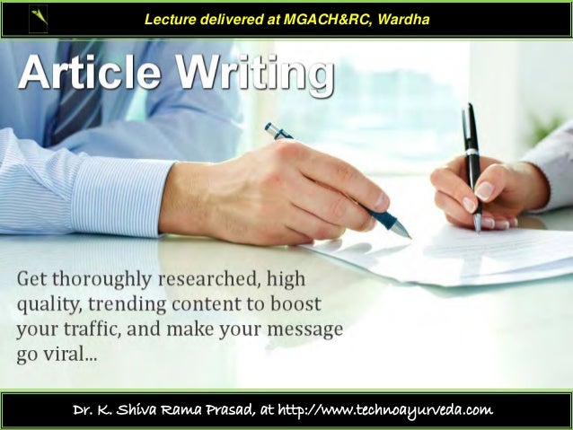 Lecture delivered at MGACH&RC, Wardha  Dr. K. Shiva Rama Prasad, at http://www.technoayurveda.com/