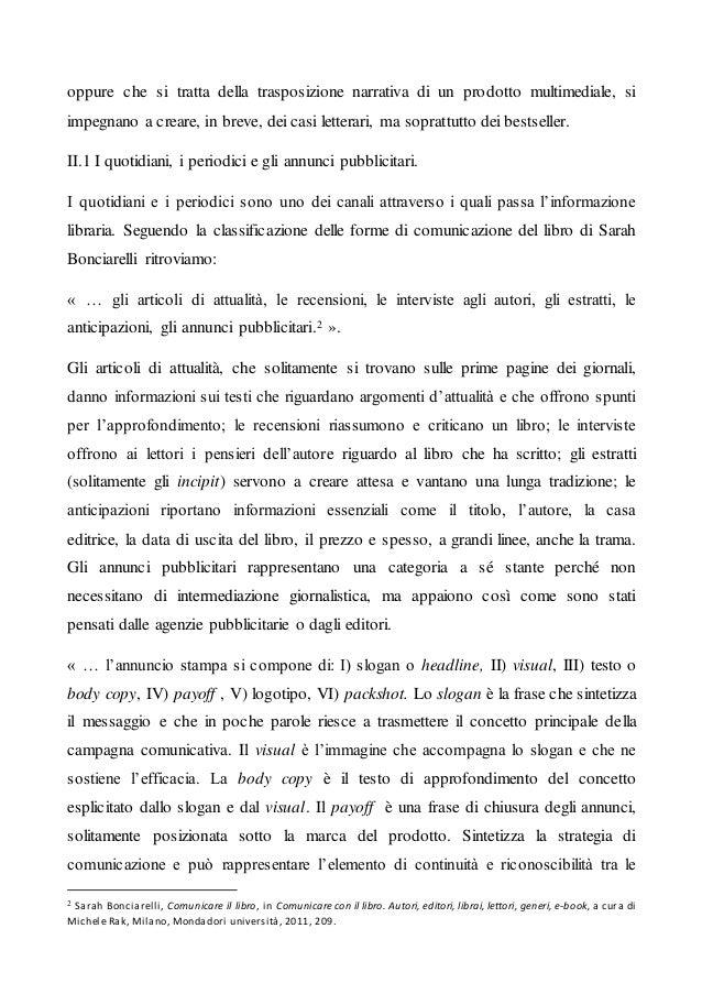Articolo 10 Promozione e Pubblicità del libro: come si imposta lo spot. Slide 2