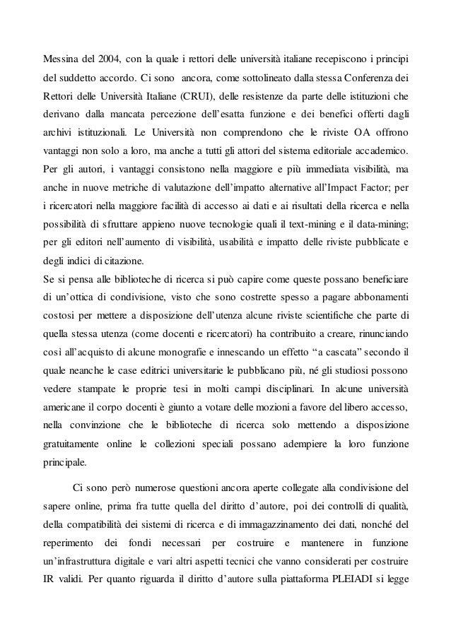 Articolo 5 Open access e archivi istituzionali: opportunità e problemi Slide 3