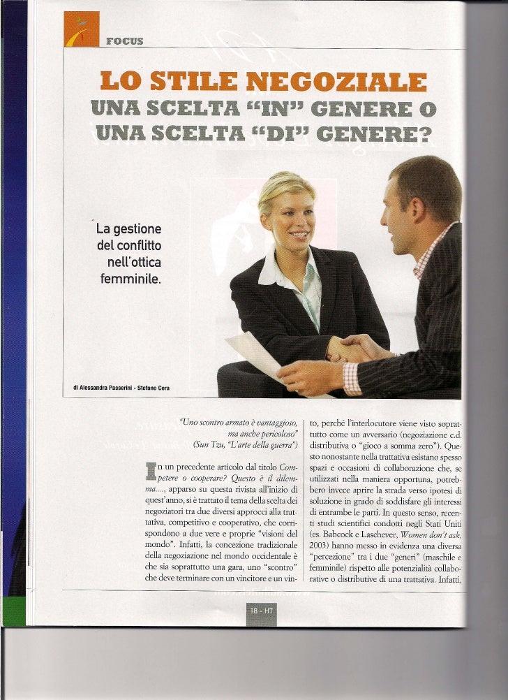 Negoziazione genere_Passerini_Cera