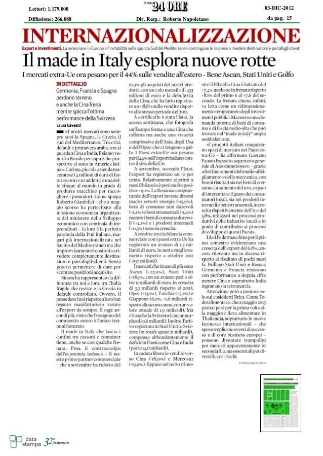 Lettori: 1.179.000                                     03-DIC-2012Diffusione: 266.088   Dir. Resp.: Roberto Napoletano    ...