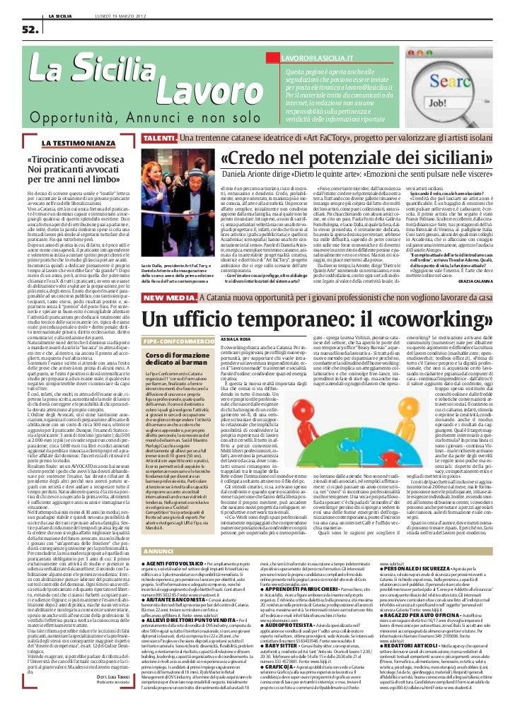 LA SICILIA                  LUNEDÌ 19 MARZO 201252.La Sicilia                                                             ...