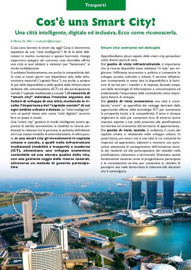 """SmartCity & MobilityLab 19 pag. 20 Cosa sono davvero le smart city, oggi? Cosa ci dovremmo aspettare da una """"città intelli..."""