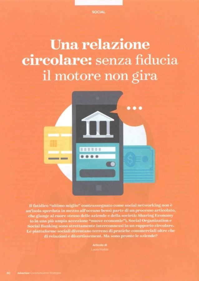 """Articolo ADV """"Social Banking. Una relazione circolare: senza fiducia il motore non gira"""""""