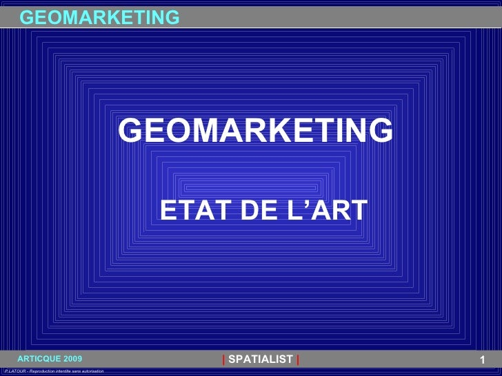 GEOMARKETING ETAT DE L'ART