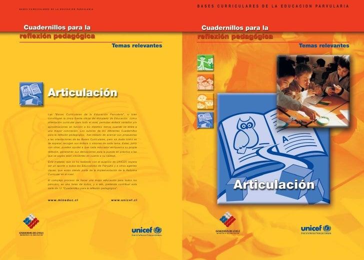BASES CURRICULARES DE LA EDUCACION PARVULARIABASES CURRICULARES DE LA EDUCACION PARVULARIA                                ...