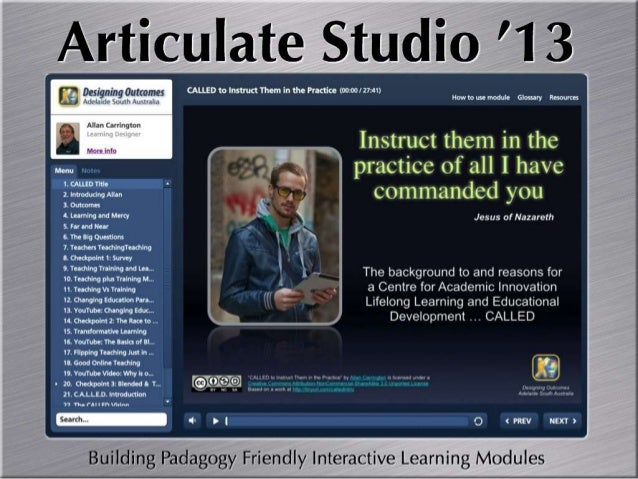 Articulate Studio '13 ... Hello Boys I'm Back!