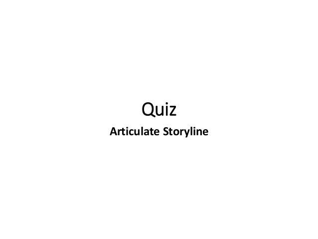 Quiz Articulate Storyline