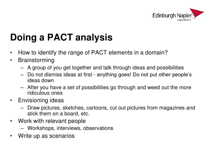 how to make a pact analysis