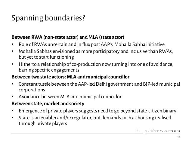 Spanning boundaries? BetweenRWA(non-stateactor) andMLA(state actor) • Role of RWAs uncertain and in flux post AAP's Mohall...