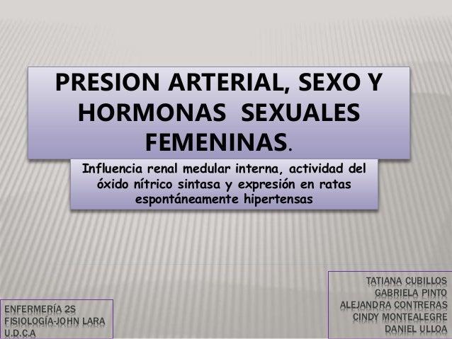 TATIANA CUBILLOS GABRIELA PINTO ALEJANDRA CONTRERAS CINDY MONTEALEGRE DANIEL ULLOA PRESION ARTERIAL, SEXO Y HORMONAS SEXUA...