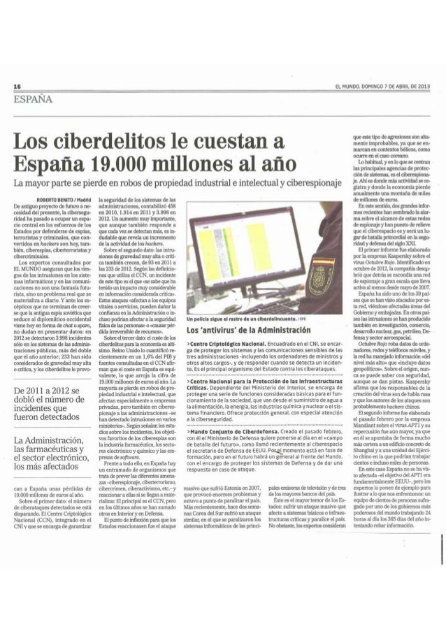 Los ciberdelitos cuestan a España 19000 millones