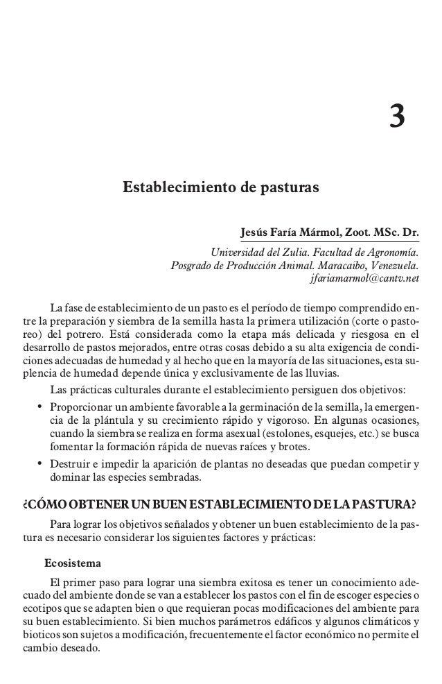3                      Establecimiento de pasturas                                                Jesús Faría Mármol, Zoot...