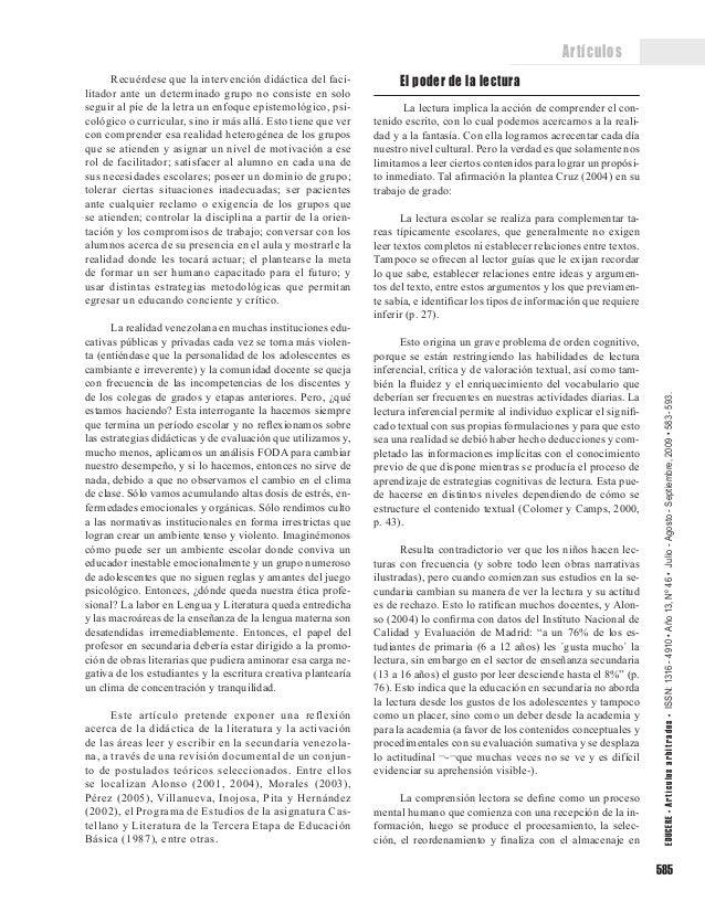 LA LECTURA, LA ESCRITURA Y LA LITERATURA EN LA ENSEÑANZA VENEZOLANA Slide 3