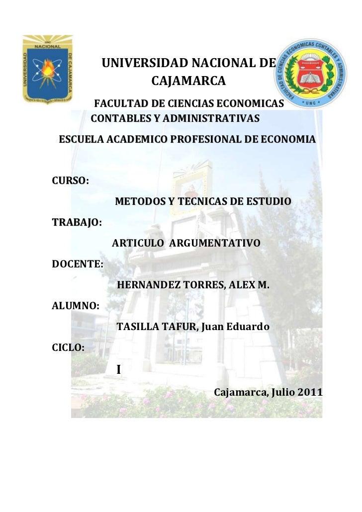 4043969-344790-626745-400685UNIVERSIDAD NACIONAL DE CAJAMARCA<br />-168987285021FACULTAD DE CIENCIAS ECONOMICAS CONTABLES ...