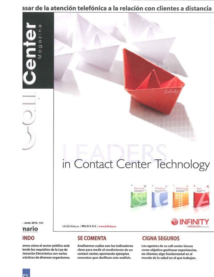 Artículo Call Center Magazine Junio 2010