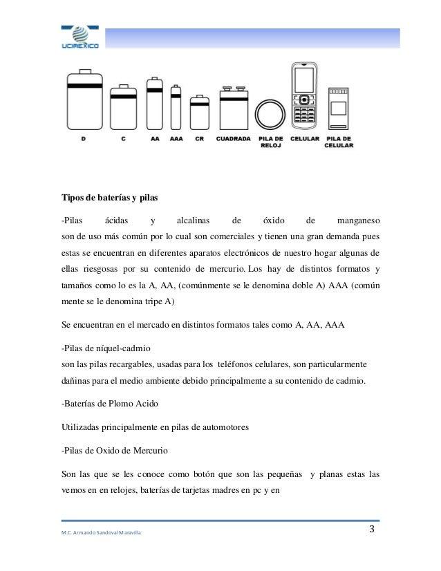 Articulo cientifico armando sandoval contaminaci n por - Tipos de pilas alcalinas ...